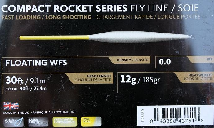 Hardy Compact Rocket Fliegenschnur